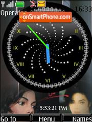 Скриншот темы Michael Jackson LATE SWF