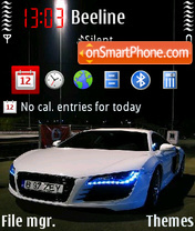 Audi R8 V5 theme screenshot