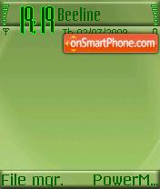 Greenie 01 es el tema de pantalla