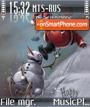 Snowman Vs Santa theme screenshot