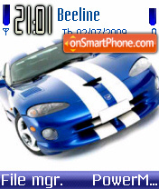 Скриншот темы Dodge Viper 09