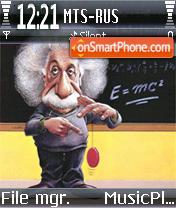 Albert Einstein theme screenshot