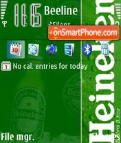 Скриншот темы Heineken 09