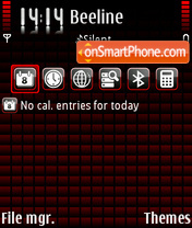 Скриншот темы Black&Red v2 SC