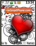 Red heart tema screenshot
