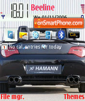 Hamman BMW Z4 theme screenshot