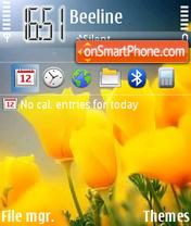 Yellow Tulips 01 theme screenshot