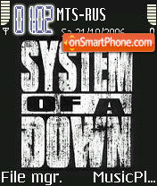 System Of A Down V01 theme screenshot