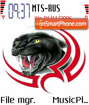 Tribal Panther theme screenshot