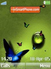 Green Butterfly 01 es el tema de pantalla