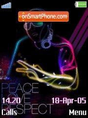 Peace es el tema de pantalla