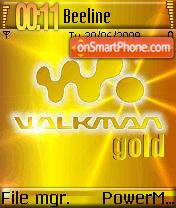 Walkman Gold 01 theme screenshot