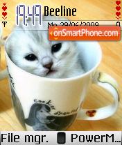 Kitten in Cup theme screenshot
