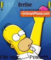 Homer Simpson 09 theme screenshot