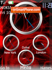 Red Tempest Clock theme screenshot