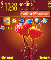 Red N Yellow Love tema screenshot