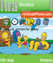 Simpsons 04 theme screenshot
