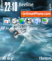 Скриншот темы Tiger White