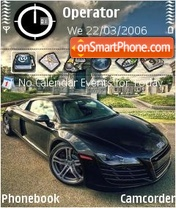 Audi R8 black theme screenshot
