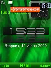 Swf Green Clock 01 theme screenshot