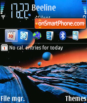 Outer Space 01 theme screenshot
