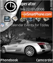Audi R8 Silver theme screenshot