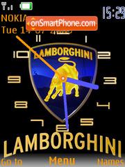 Скриншот темы Lamborghini Clock