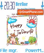 Animation Happy Day es el tema de pantalla