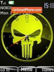 Punisher Clock SWF theme screenshot