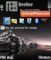 Black Sunset tema screenshot