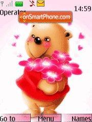 Teddy Bear Love theme screenshot