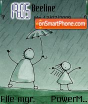 UNI Rain theme screenshot