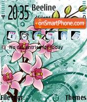 Drawn Flowers theme screenshot