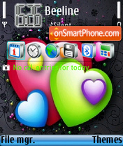Color hearts theme screenshot
