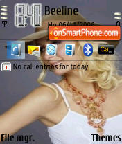 Paris Hilton 03 theme screenshot