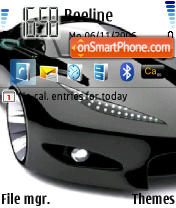 Peugeot Concept Car theme screenshot