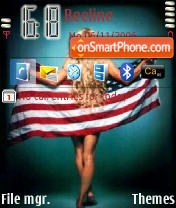 Pamela Anderson America Flag theme screenshot