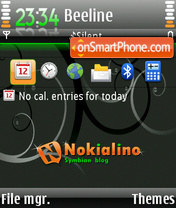 Nokialino 03 theme screenshot