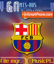 Barcelona FCB theme screenshot