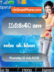 Soha Ali Khan SWF theme screenshot