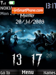 Harry Potter Clock 01 tema screenshot