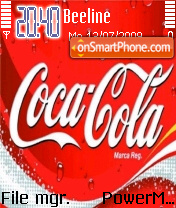 Coca cola 13 theme screenshot