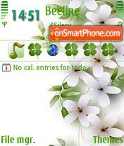 Скриншот темы Abstract Flowers 03