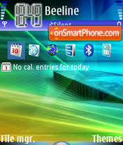 Vista Light 01 tema screenshot