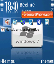 Windows 7 10 theme screenshot