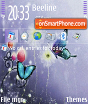 Drawn Butterfly theme screenshot