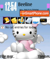 Hallo Kitty theme screenshot