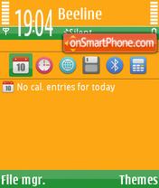 Скриншот темы GreenOrange fp1