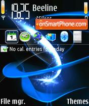 Скриншот темы Abstract Blue Theme