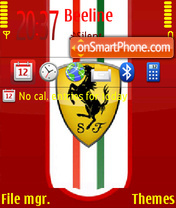 Ferrari Touch theme screenshot